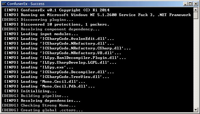 Screenshot of Command-line interface